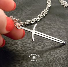 Sword pendant free shipping  Sword necklace  от BorowskiStore
