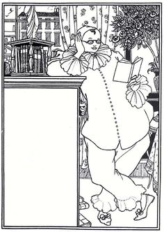 """Pierrot"" by Aubrey Beardsley via Wikipaintings. Ink Illustrations, Illustration Art, Puzzle Photo, Aubrey Beardsley, Japanese Woodcut, Art Database, Black And White Drawing, Illustrators, Art Nouveau"