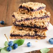 Blueberry whole grain breakfast bars