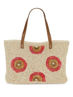 Straw Studios - Floral Textured Tote