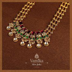 Antique Jewellery Designs, Gold Jewellery Design, Antique Jewelry, Jewelery, Silver Jewelry, Indian Wedding Jewelry, Indian Jewelry, Jaipur, Pearl Necklace Designs