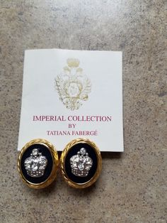 Signed Vintage Tatiana Faberge Earrings by 3LittleWitches on Etsy