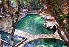 Balneario Aguas Termales outside of Gracias, Honduras. Admission is 20Lps. Go on weekdays