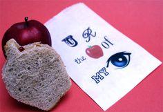 Printable sandwich bag for back-to-school