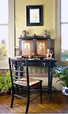 Aesthetic Movement Living Room #bradburywallpaper