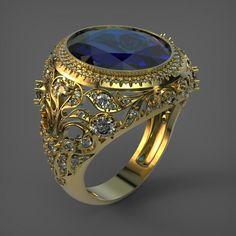 ผลลัพธ์รูปสำหรับ pictures of unique mens signet rings Cuff Bracelets, Bangles, Rhinoceros, Signet Ring, Jewelry Trends, Blue Sapphire, Blue Green, Gemstones, Metal