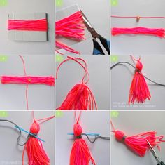 the red thread :: create, inspire, share | How to make a tassel | http://www.theredthreadblog.com
