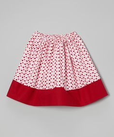 Red & Pink Heart Skirt - Infant, Toddler & Girls | zulily
