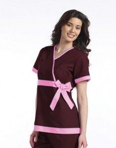 cute scrub top- For when I'm a Vet Tech! Cats would probably play with the bow though...