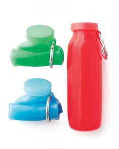 With a silicone bottle that rolls up small enough to stuff in your pocket, you won't be buying bottled water constantly.Bubi bottles, $30 each, Bubi Bottle