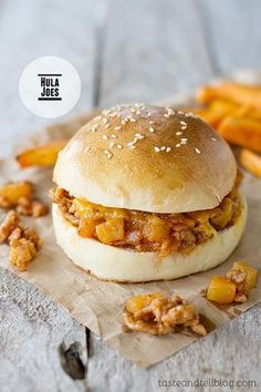 Sloppy Joes go Hawaiian! These Hula Joes are made with ground pork, bacon, pineapple and a sweet and savory sauce that will transport you to the tropics.