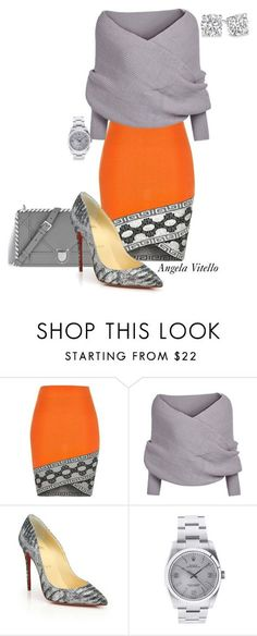 """""""Untitled #624"""" by angela-vitello on Polyvore featuring River Island, Christian Louboutin and Rolex"""