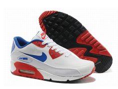 reputable site 4ec95 e0727 Nike Air Max 90 Prm Tape 2014 Blanc Rouge Chaussures Homme Air Max 90  Blanche Nike