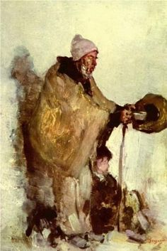 Nicolae Grigorescu, Breton Beggar (date not known), oil on panel, x cm, Private collection. Barbizon School, Gustave Courbet, How To Make Drawing, Art Database, Romania, New Art, Painting & Drawing, Little Girls, Photos
