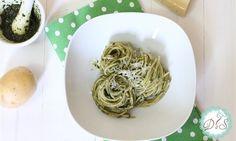 Spaghetti  al  pesto  e  patate