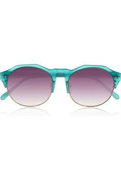 Matthew Williamson Round-frame acetate and metal sunglasses