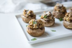 There is nothing quite as satisfying as classic stuffed mushrooms and this recipe has it all. Zesty sausage is combined with creamy cheese in a simple appetizer for your next party or a delicious addition to any meal. Marinated Mushrooms, Steak And Mushrooms, Stuffed Mushrooms, Creamy Cheese, Low Carb Dinner Recipes, Lemon Recipes, Mushroom Recipes, Light Recipes, Fruits And Veggies