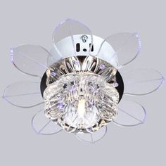 New Modern Crystal Led Ceiling Light Fans Fixture Lighting Chandelier N Free Shipping