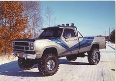 Chrysler Dodge 4x4 1980 (My Fourth Car!), 360 ci V8 ... a lot of power under the hood.