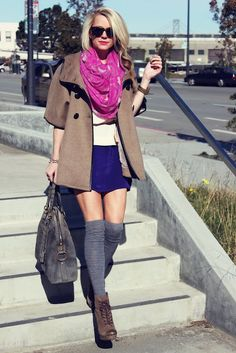awesome 17 Fall Outfit Ideas With Over The Knee Socks 36fc3790902
