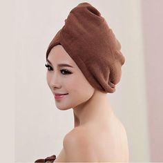 1pcs  Microfibre After Shower Hair Drying Wrap - coffee / 60x20cm