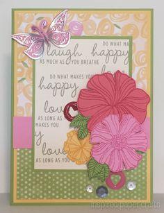 Wavy Blooms Birthday Card www.inspiredpapercrafts.com