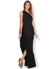 Lauren Ralph Lauren One-Shoulder Draped Gown http://www1.macys.com/shop/product/lauren-ralph-lauren-one-shoulder-draped-gown?ID=1655556&CategoryID=5449#fn=sp%3D1%26spc%3D18%26slotId%3D7%26kws%3Dlong%20drapes