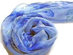 Blue Floral Summer Scarves Womens Scarves Turquoise Scarf Fashion Scarv Baby blue Scarf gift Ideas for women womens accessories Scarf Shawl by JewelleryHappyDay on Etsy