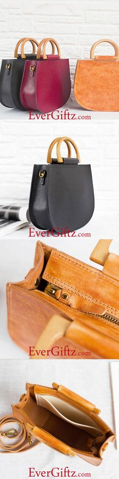 Overview: Design: Genuine Leather Handmade Handbag Crossbody Bag Shoulder Bag In Stock: 2-6 days to process orders Include: Only Handbag Custom: None Color: Cherry Red, Black, Caramel Material: Cowhide Measures: 20cm x 20.5cm x 7.5cm Weight: 0.15kg Slots: 1 large slot, 1 inner pocket slot Style: Genuine Leather Handbag Crossbody Bag Shoulder Bag Each...