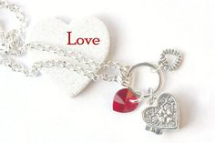 PYKNIC2 Valentine heart locket pendant wish box pendant by PYKNIC2 $12.50 ☮ & ❥ LOVE www.pyknic2.etsy.com
