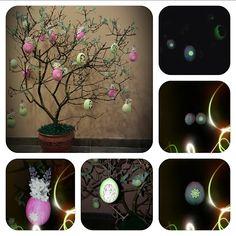 Ötletes Blog: Különleges tojásfa Glass Vase, Plants, Blog, Home Decor, Homemade Home Decor, Decoration Home, Room Decor, Flora, Planters