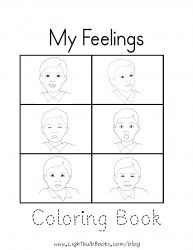 feelings coloring pages printable free - free feelings worksheet and mini book for pre k to 1 from