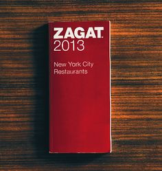 Zagat NYC Restaurant Guide 2013