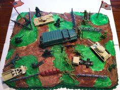 Boys Army Birthday Cake Army Themed Birthday, Army Birthday Cakes, Army Birthday Parties, Barbie Birthday Cake, Army's Birthday, Novelty Birthday Cakes, Cupcake Birthday Cake, Barbie Cake, Birthday Cake Girls