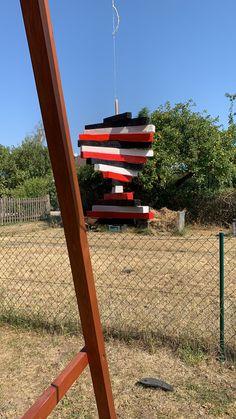 Ein Windspiel Spirale aus Holz selber gebaut