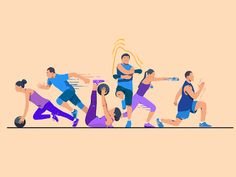 Be Active Stay Healthy Flat Illustration, Digital Illustration, Sports Day Poster, Slim And Sassy, Sports Painting, Trinidad, Sports Art, Anime Art Girl, Fitness Goals