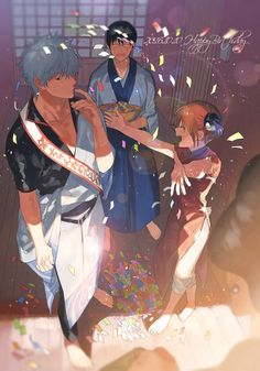 Gintoki, Shinpachi, and Kagura