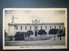 REGGIO CALABRIA PALAZZO DI CITTA' E MUNUMENTO ALL'ITALIA - 1445 Palazzo, Reggio Calabria, Taj Mahal, Building, Painting, Travel, Ebay, Art, Italia