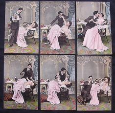 Rare Set Of Six Victorian Era 'Risque' Postcards from Antique Goodies on Ruby Lane