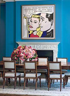 Turquoise room /Roy Lichtenstein art
