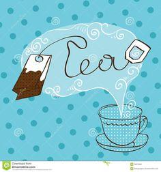 tea-time-design-template-blue-cup-vector-39310961.jpg (1300×1390)