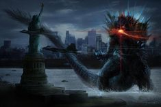 Early Godzilla concept art depicts King of Monsters' evolution ...