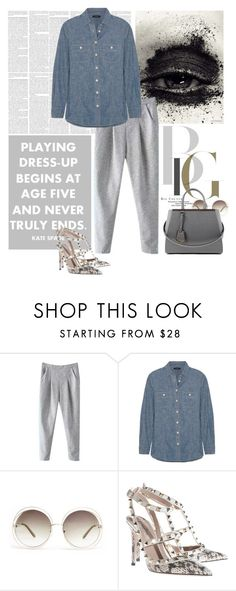 """Untitled #399"" by anebe ❤ liked on Polyvore featuring Lauren Conrad, J.Crew, Chloé, Valentino, Fendi, women's clothing, women, female, woman and misses"