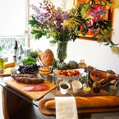 Entertaining at home. A gorgeous appetizer bar.