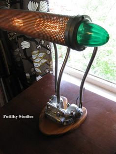 Vintage Car U0026 Motorcycle Parts Lamp By Futility Studios | Creative Car Part  Art | Pinterest
