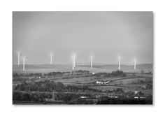 Minsca Wind Farm. Taken from Repentance Tower at 5.30pm at a distance of 6.5 miles. The Orchard farm is just to the right of centre. Check it out on my Flickr page. https://www.flickr.com/photos/jetjohn/