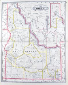 Map of the United States Territory of Oregon Important Fur Trade