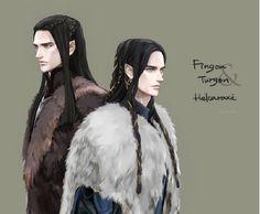 Fingon and Turgon- Helcaraxë