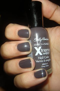 sally hansen xtreme wear grey area - Best grey EVER!  Almost has a purple tint to it...