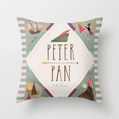 Peter Pan Throw Pillow by Emilydove - $20.00